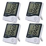 eSynic 4 Morceaux LCD Digital Hygromètre Thermomètre Intérieure Contrôle Température Humidité Capteur Indicateur de...