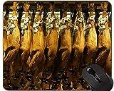 Yanteng Alfombrilla de ratón Antideslizante de Pintura de Cerdo, Alfombrilla de ratón Jamon