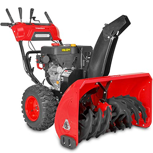HECHT 9542 SQ Benzin-Schneefräse (106cm Arbeitsbreite, 11 kW/ 15 PS, 2-Stufen-Fräse, 6-Gänge, Griffheizung, LED-Licht)