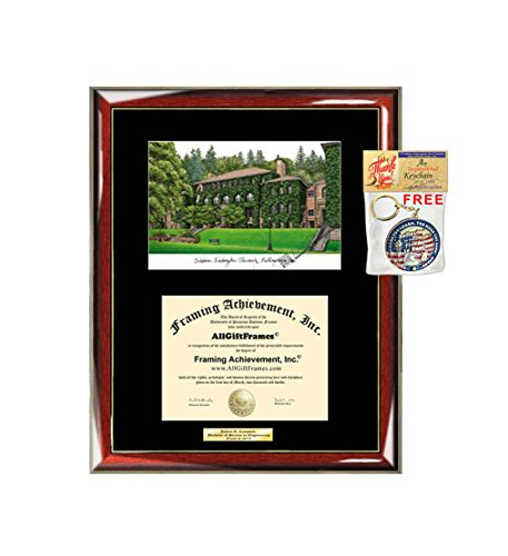 Western Washington University Diploma Frame WWU Lithograph Degree Framing Graduation Gift Plaque Document Holder Certificate Case Frames
