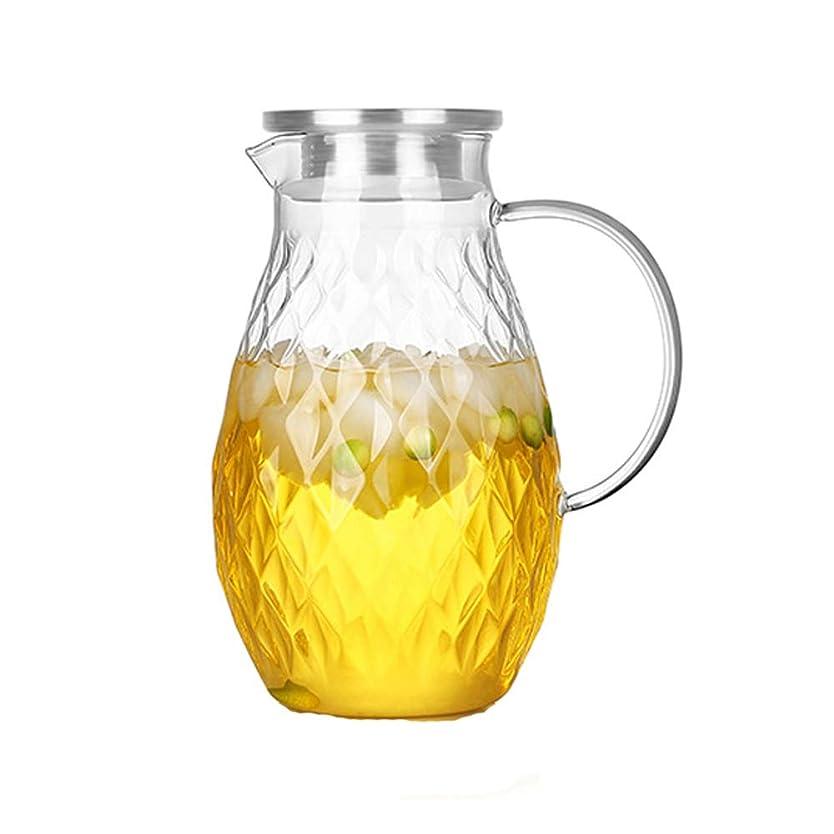 戸惑う農村噴火SXLLクールウォーターカップ 冷水カップ、家庭用冷水高温ガラス大型ケトルフルーツティーポット (色 : クリア, サイズ さいず : 19*23cm)