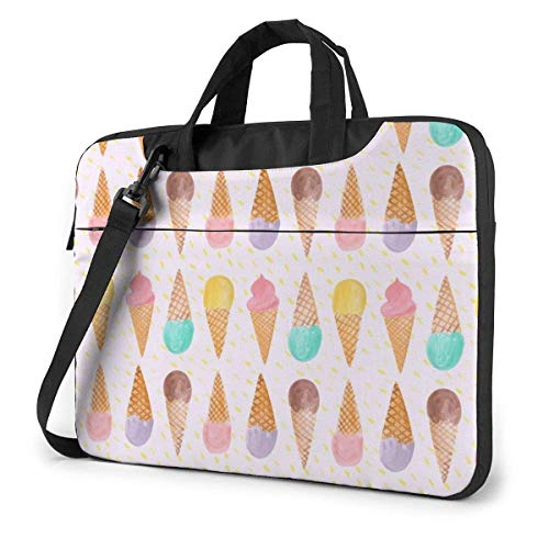 XCNGG Bolso de hombro Computer Bag Laptop Bag Carrying Laptop Case, Ice Cream Pattern Computer Sleeve Cover with Handle, Business Briefcase Protective Bag for Ultrabook, MacBook, Asus, Samsung, Sony,