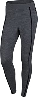 NIKE Womens Tech Knit Athletic Leggings Dark Grey Heather/Black 809545-065