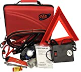 Lifeline AAA 4365AAA Destination Road, 68 Piece Emergency Car Tire Inflator, Jumper Cables, Headlamp, Warning Triangle and First Aid Kit