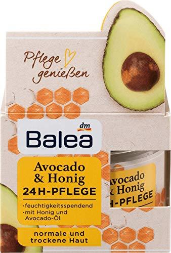Balea - Avocado & Honig 24h Pflege - für normale und trockene Haut - 1 x 50 ml