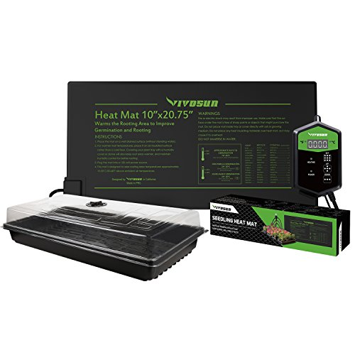 VIVOSUN 10'x 20.75' Germination Kits with Seedling Heat Mat and...