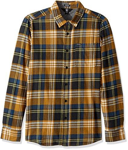 Volcom Caden L/S Camisa, Hombre, Caramelo, S