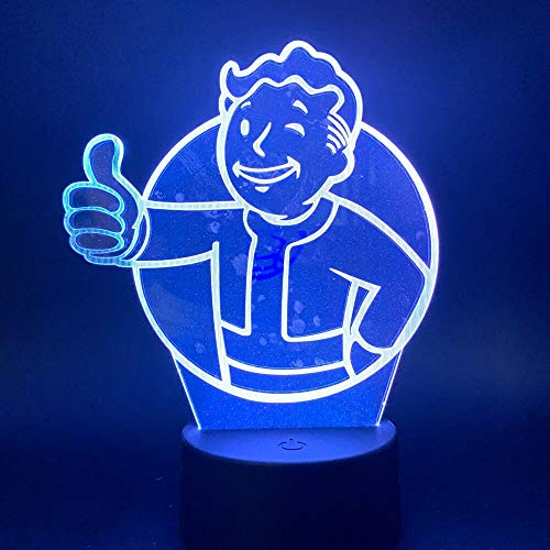 Jiushixw nachtlampje van acryl, 3D, met afstandsbediening, kleurverandering, bureaulamp, straling, voor kinderen, Marokkaanse tafel