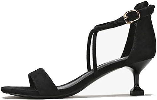 DKFJKI Chaussures pour Femmes Sandales Talons Hauts Verres à Vin Ceintures Bal Mode
