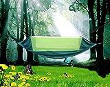 Eastbride Hamaca Ultraligera para Viaje y Camping,Hamacas portátiles Transpirables,Nylon mosquitera Hamaca, paracaídas portátil Hamaca-Zafiro