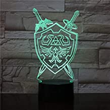3D Night Lights The Legend of Zelda Table Lamp Anime Game Breath of The Wild Visual Illusion 3D Led Luces Navidad