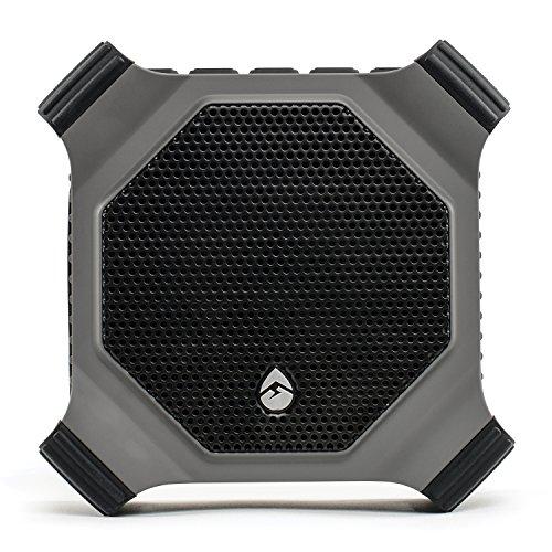ECOXGEAR EcoDrift GDI-EXDRFT210 Rugged Waterproof Floating Portable Bluetooth Wireless 15-Watt Smart Speaker with Integrated Siri & Google Voice Control (Gray)