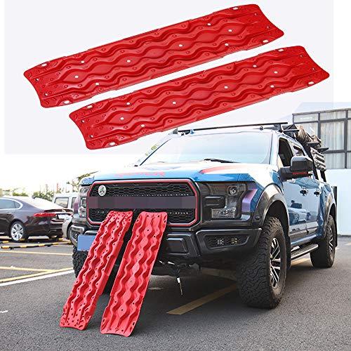Red Solo - Tablas de recuperación de tracción, 2 unidades, tablero de protección de barro para extracción de vehículos 4 x 4 todoterreno, arena y nieve
