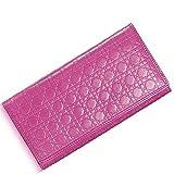 Cartera de cuero genuino del rombo de las señoras, embrague coreano de la moda, rosa roja (Rojo) - QB6546227