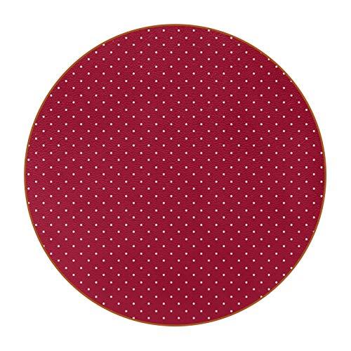 6 posavasos con imagen y texto personalizables para inauguración de la casa, regalos de anfitriona, decoración de boda, decoración de habitación, puntos blancos en rojo
