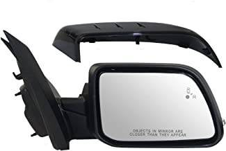 Passengers Power Side View Mirror Heated Memory Puddle Lamp Signal w/Blind Spot Detection Replacement for 11-14 Ford Edge CT4Z17682EAPTM