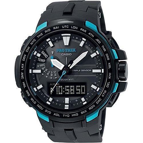 Casio Reloj Multiesfera para para Hombre de Energía Solar con Correa en Fibra de Carbono PRW-6100Y-1AER