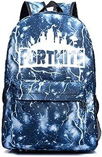 Unisex Casual Backpacks Nylon Satchel Fortnite Backpack Students School Bag Lightning Blue