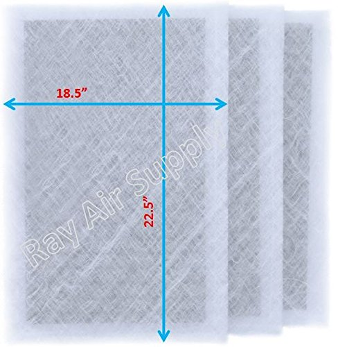 RAYAIR SUPPLY 20x25 Air Ranger Replacement Filter Pads 20X25 (3 Pack) White