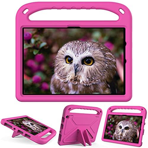 GOZOPO Funda para tablet H D 10 y H D 10 Plus (11ª generación, lanzamiento 2021), funda ligera a prueba de golpes con soporte (rosa)