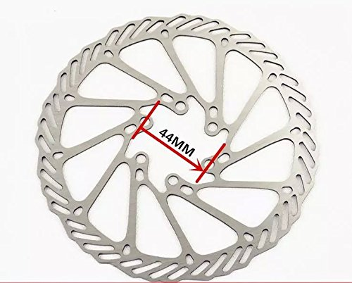 ¿Yinxiaoda? 6 agujeros 160 mm Rotor del freno de disco para bicicleta de acero inoxidable Montaind---Color plata 2