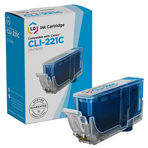 LD Compatible Ink Cartridge Replacement for Canon CLI-221 (Cyan)