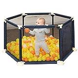 GWFVA Blue Hexagon Babies Ball Pits Baby Playpen Centro de Actividades para niños Safety Play Yard Home Interior Outdoor