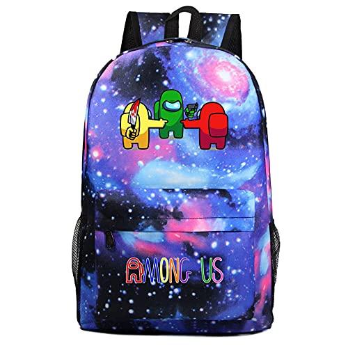 Among us Galaxy Boy Girl Student Adolescente Juego Fans Bolsa de niños Regalo Casual Viajes Hombro Mochila 15 Colores-Color8