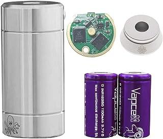 【正規輸入品】Cthulhu TUBE MOD セカンドバッチ 予備基盤+Vapcell18350バッテリー2本専用ケース入り+Cthulhuアトマイザースタンド付セット (STAINLESS)
