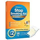 Aroamas Quit Smoking Aid, Stop Smoking Patches - Delivered Over 24 Hours Transdermal System to Stop Smoking Aids That Work (Step 2 [14 mg per Patch])