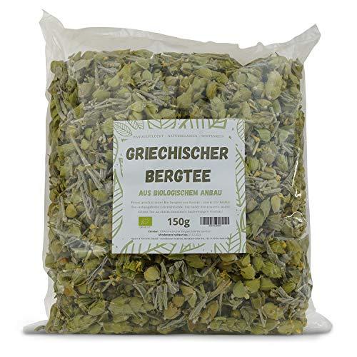 Jassas PREMIUM Bio Bergtee aus Griechenland - 150g - Geschnitten - Bergtee Blüten - Hand geerntet - Zertifiziert biologisch angebaut - BIO Bergtee aus dem Norden Griechenlands - DE-ÖKO-037