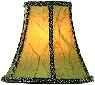 Upgradelights Aged European Parchment 8 Inch Clip On Chandelier Shade 4x8x6