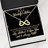 Mother Necklace Above All Gifts Keepsake Card Gift - Colgante de acero inoxidable