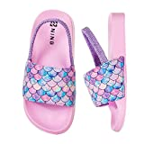 Watelves Toddler Boys Girls Slides Sandals for Swim Beach Kids Water Shoes Unicorn Slippers (NEW-Fishscale/pink-30/31)