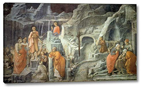 """St John Taking Leave of His Parents by Fra Filippo Lippi - 10"""" x 16"""" Gallery Wrap Canvas Art Print - Ready to Hang"""