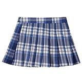 inlzdz Falda Plisada de Uniforme Escolar Niñas Falda Corta de Cuadros Niña Skirt Schoolwear Falda Danza Azul Marino 11-12 años