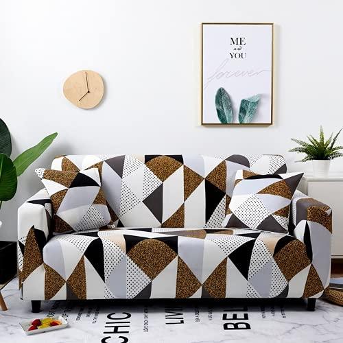DANNEIL Fundas para Sofa con Estampado De Spandex, para Sofá De Sala De Estar, Fundas Sofa Elasticas, Todo Incluido, Fundas para Sofa Chaise Longue (Colour6,3 Seater 180-225cm)