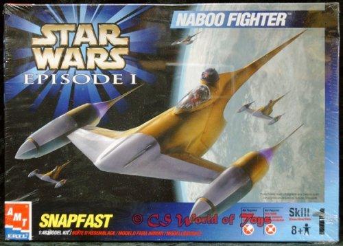 Star Wars Episode I - NABOO FIGHTER - SNAPFAST 1:48 Model Kit / Modellbausatz - AMT / ERTL 1999