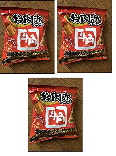 おやつカンパニー お肉派スナック 牛角 Gyu-Kaku パンチの効いた 特製だれ風味 スタミナWガーリック味 52gx3袋
