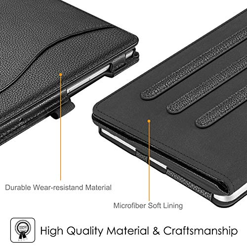 Fintie Hülle für Lenovo Tab M8 (TB-8705F/TB-8505F/TB-8505X/TB-8505FS), Multi-Winkel Betrachtung Folio Stand Schutzhülle für Lenovo Tab M8 HD FHD (2nd Gen) Smart Tab M8 8 Zoll Tablet PC, Schwarz