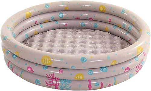 Pataugeoire, Antidérapante, Résistante à l'usure   Plastique   Robuste Et Durable   Piscine Facile à Installer   Piscine for Enfants Et Adultes, Intérieur Et Extérieur ( Couleur   gris )