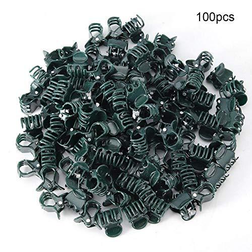 Doukon 100 Stück Plastik Mini Größen Halterung Clip Blume Werkzeuge Garten Clips Stiel Crecer Orchidee Vertikal