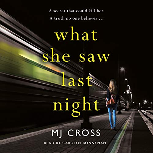What She Saw Last Night audiobook cover art