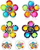 ZPPLD Pop Fidget Spinner, 4 Stück Push Tie Dye Einfache Fidget Popper Spinner,Party Favor Fidget...
