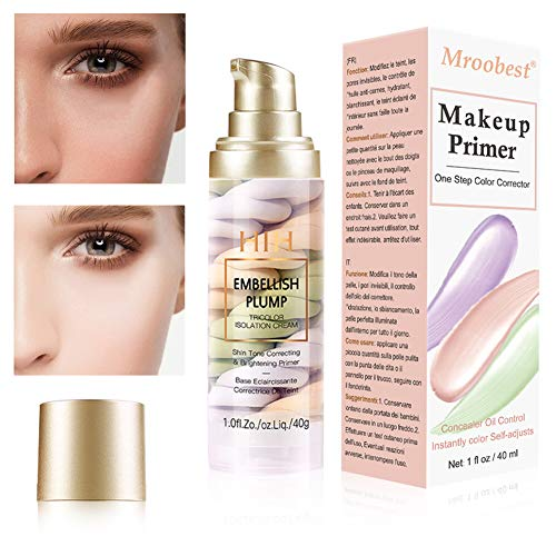 Liquid Foundation, Flüssige Grundierung, Primer Makeup, 3 Farbe Isolation Cream,Primer Langlebig und Perfekte Abdeckung, Haben Sie glatte Haut, Feuchte Ölkontroll