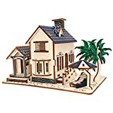 DIETSON 3D Wooden Puzzle Model Kits Assembly Craft Toy Brain Teaser Games Building Kits Gifts for Kids Women Men (Beach House)