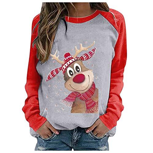 Funny LED Xmas Jumper avec Santa Reindeer Snowflake Loose Fit Tricoté Pull pour Halloween Pâques,Pulls Noel Femme Homme, Pull d'hiver Chaud Pull Décontracté à Manches Longues Motif