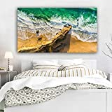 ganlanshu Pintura sin Marco Playa Surf Lienzo Pintura Arte de la Pared póster Imprimir Imagen póster Sala ZGQ4650 30X50 cm