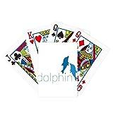 Blue Ocean Docile Two Dolphin Poker Juego de cartas mágicas