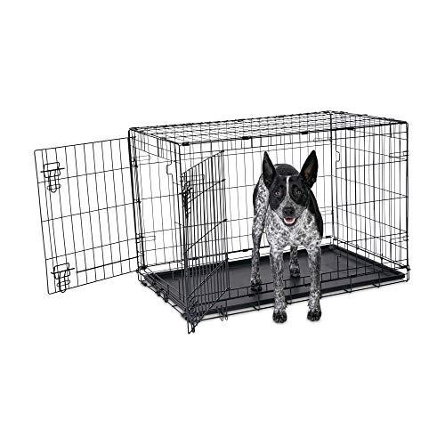 "Petco Brand - Animaze 2-Door Folding Dog Crate, 36.5"" L x 23.5"" W x 24.7"" H, Large, Black"
